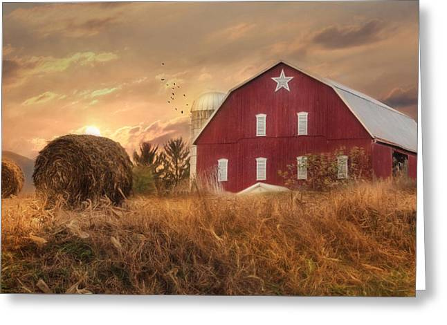 Bedford County Sunset Greeting Card by Lori Deiter