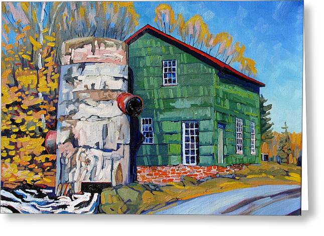 Grist Mill Greeting Cards - Bedford Mills Greeting Card by Phil Chadwick