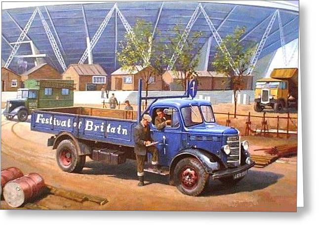 Bedford Greeting Cards - Bedford O type 1950 Greeting Card by Mike  Jeffries