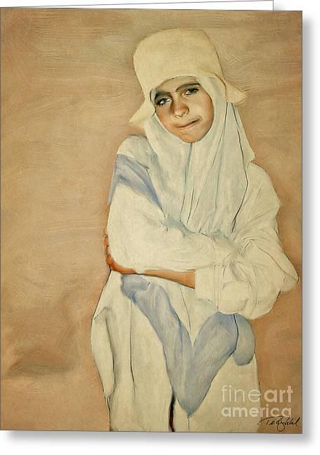 Jordan Greeting Cards - Bedouin Girl Greeting Card by Ted Guhl