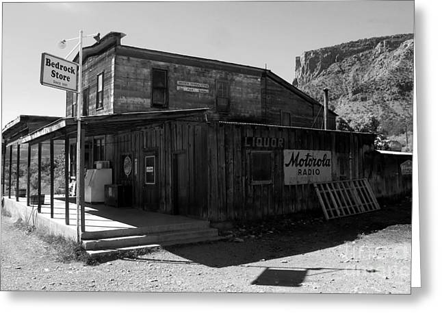Bedrock Greeting Cards - Bedrock Store 1881 Greeting Card by David Lee Thompson