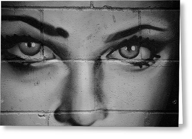 Graffiti Decor Greeting Cards - Bedroom Eyes Greeting Card by Lisa Knechtel