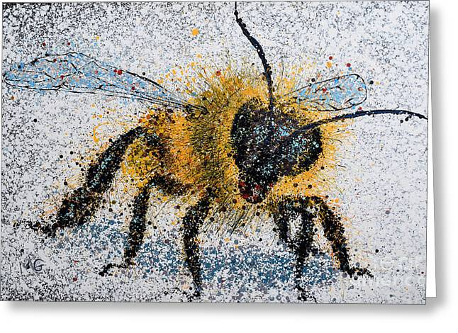 Bee Number One Greeting Card by Michael Glass