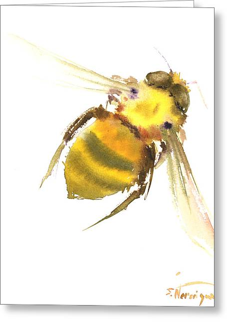 Bee Greeting Card by Suren Nersisyan