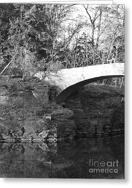 Ithaca Greeting Cards - Beebe lake Stone Bridge Greeting Card by Hyoye S