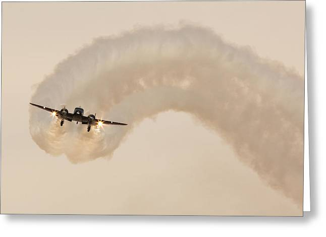 Aerobatics Greeting Cards - Beech 18 Greeting Card by John Daly