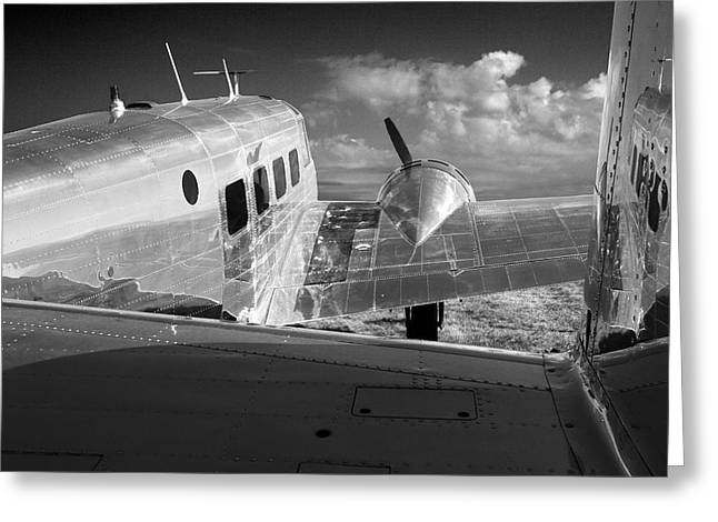 Multi-engine Greeting Cards - Beech Model 18 1959 Greeting Card by Maxwell Amaro