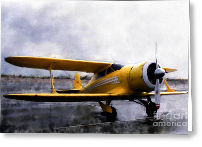 Airplane Greeting Cards - Beechcraft Stagger Wing Greeting Card by Arne Hansen