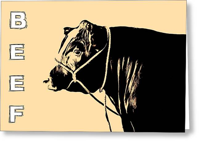 Hamburger Greeting Cards - Beef Poster Greeting Card by Dan Sproul