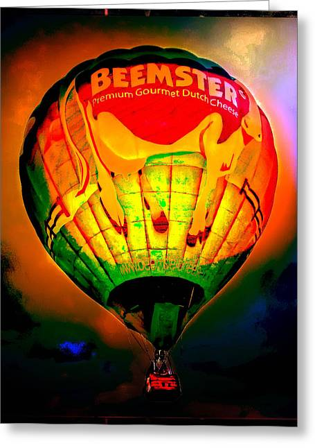 Digital Photography Greeting Cards - Beemster The Happy Hot Air Balloon Greeting Card by Thom Zehrfeld