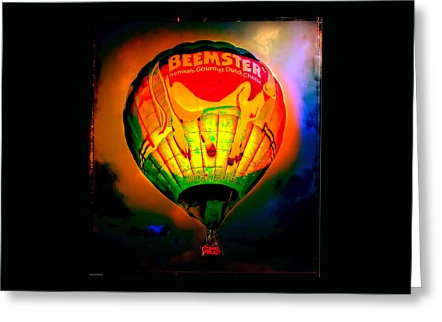 Canvas Wall Art Greeting Cards - Beemster The Happy Hot Air Balloon Greeting Card by Thom Zehrfeld