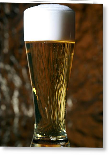 Amber Beer Greeting Cards - Beer Gods gift to man Greeting Card by Michael Ledray
