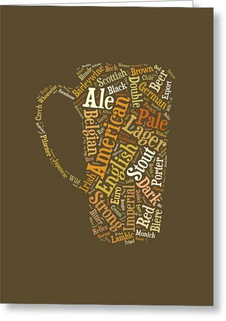 Beer Lovers Tee Greeting Card by Edward Fielding