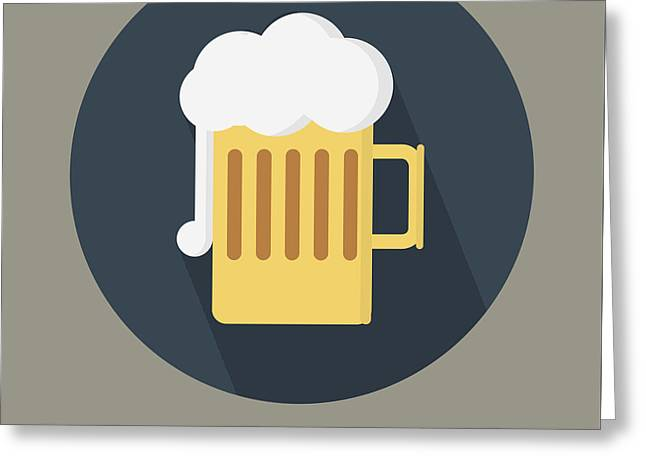Beer Yourself - Beer Poster Print Greeting Card by Beautify My Walls
