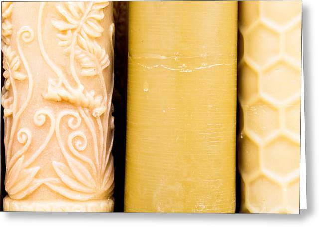 Recently Sold -  - Base Path Greeting Cards - Beeswax candles Greeting Card by Tom Gowanlock