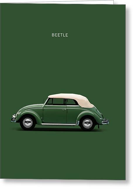 Volkswagen Greeting Cards - Beetle 53 Greeting Card by Mark Rogan