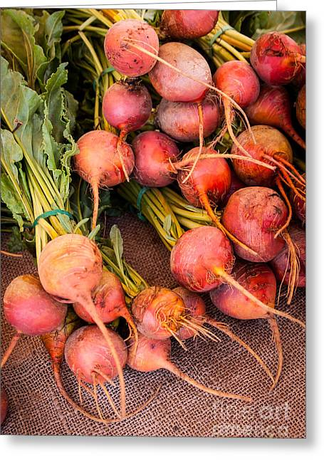 Organic Foods Greeting Cards - Beets Greeting Card by Ana V  Ramirez