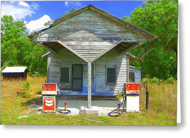 Old Roadway Greeting Cards - Before Ethanol Greeting Card by Sheri McLeroy