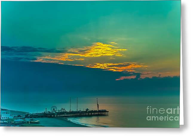 Overcast Day Greeting Cards - Before sunrise-HDR Greeting Card by Claudia Mottram