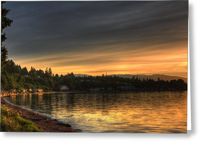 Bc Coast Greeting Cards - Before Sunset Greeting Card by Randy Hall