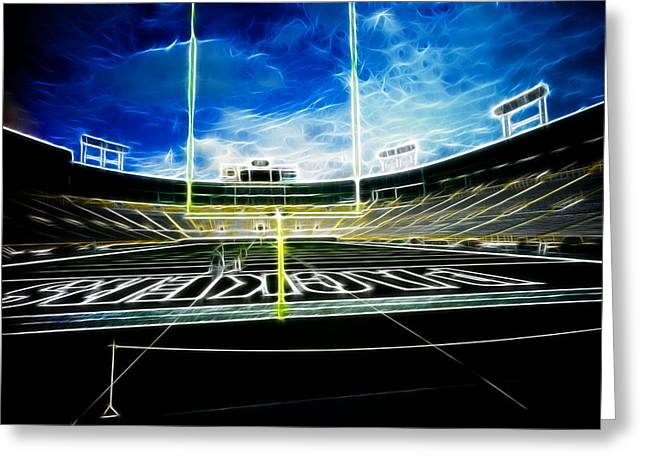 Lambeau Greeting Cards - Before The Big Game Greeting Card by Lawrence Christopher