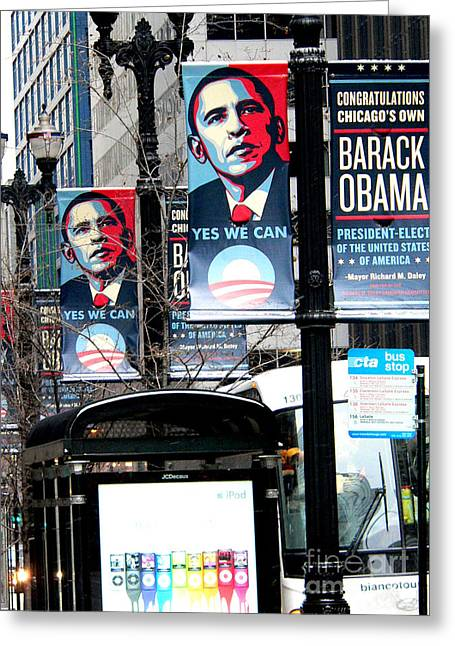 Barack Greeting Cards - Before the heavy lifting begins Greeting Card by David Bearden