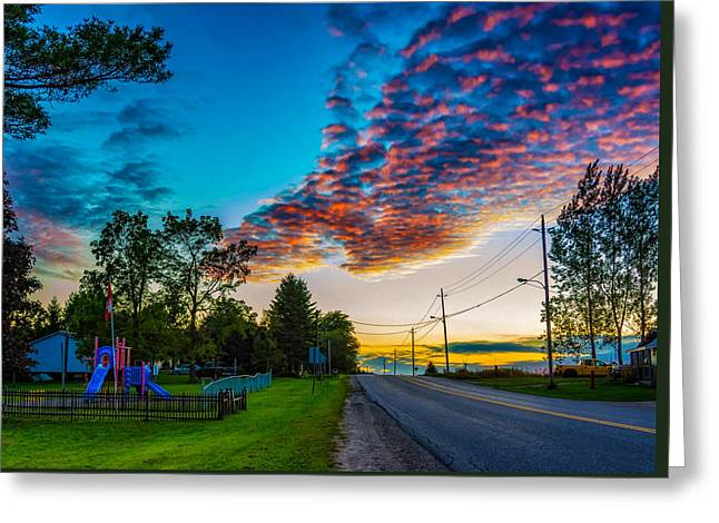 Sunset Prints Greeting Cards - Before the Lunar Eclipse 2 Greeting Card by Steve Harrington