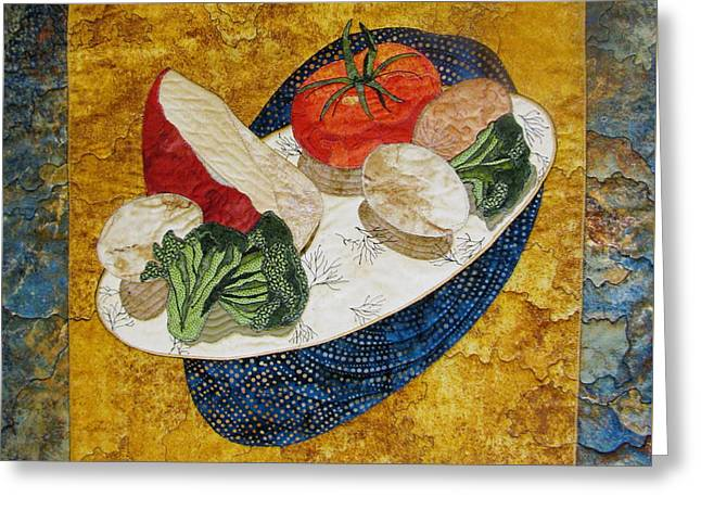 Still Life Tapestries Textiles Greeting Cards - Before the Omelet Greeting Card by Lynda K Boardman