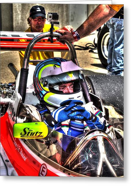 Indy Car Greeting Cards - Before the Race Greeting Card by Jonathan Williams