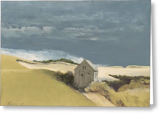 Storm Clouds Cape Cod Greeting Cards - Before the Storm Greeting Card by Andrea Petitto
