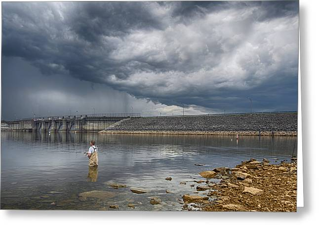 Before The Storm Greeting Card by Steven  Michael