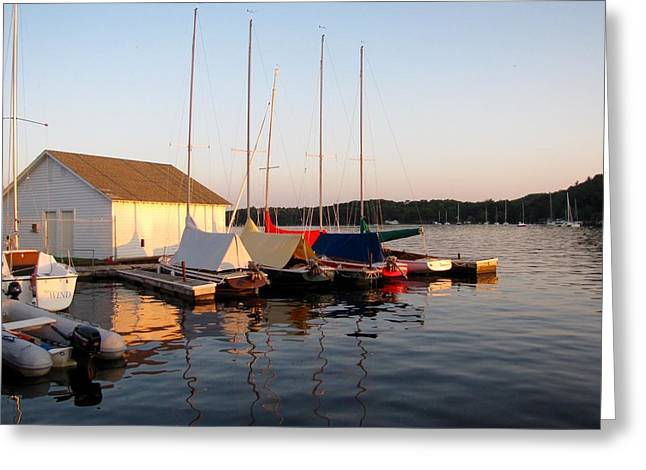 Water Reflecting At Sunset Greeting Cards - Before The Wind Greeting Card by Jane Greiner