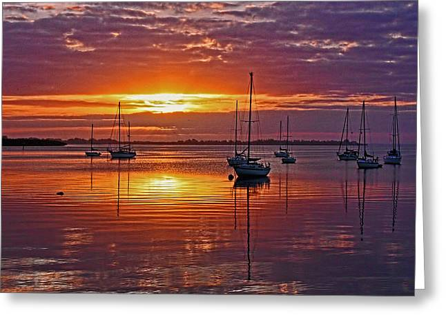 Sailboat Art Greeting Cards - Begin Again Greeting Card by HH Photography