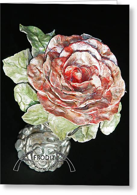 Sculpture. Ceramics Greeting Cards - Beginning Greeting Card by Afrodita Ellerman