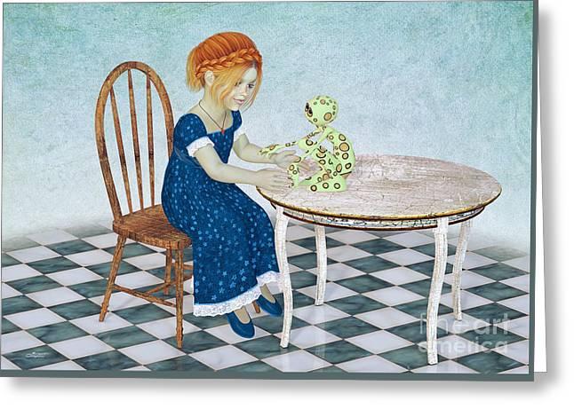 Beginning Of A Friendship Greeting Card by Jutta Maria Pusl