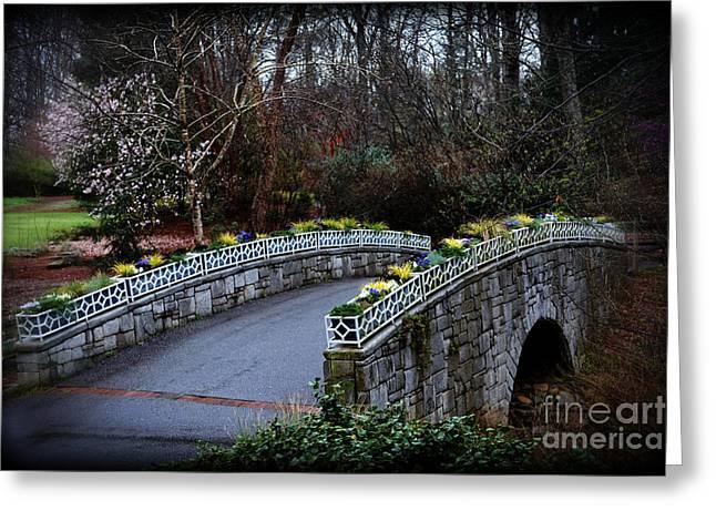 Beginning Of Spring Bridge Greeting Card by Eva Thomas