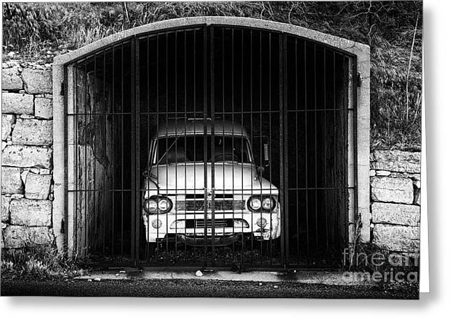 Behind Bars Jerome Arizona Greeting Card by Bob Christopher