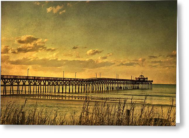 Myrtle Beach Greeting Cards - Behind Cherry Grove Pier  Greeting Card by Trish Tritz