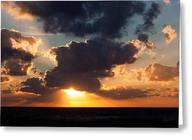 Behind Every Cloud Greeting Card by Dru Stefan Stone