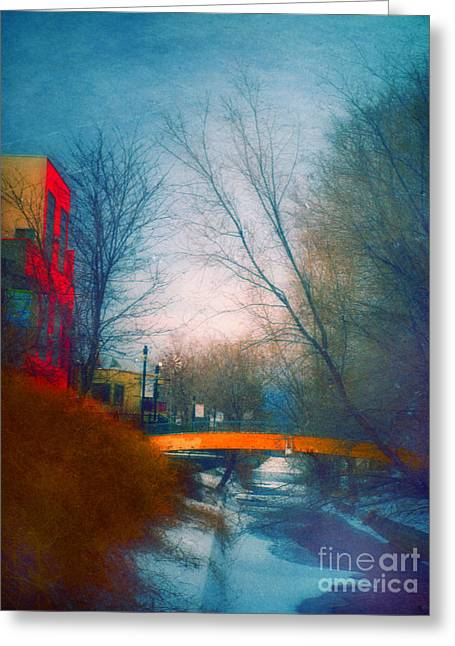 Penticton Greeting Cards - Behind Front Street Greeting Card by Tara Turner