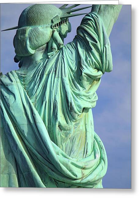 Merit Greeting Cards - Behind Liberty Greeting Card by Naman Imagery