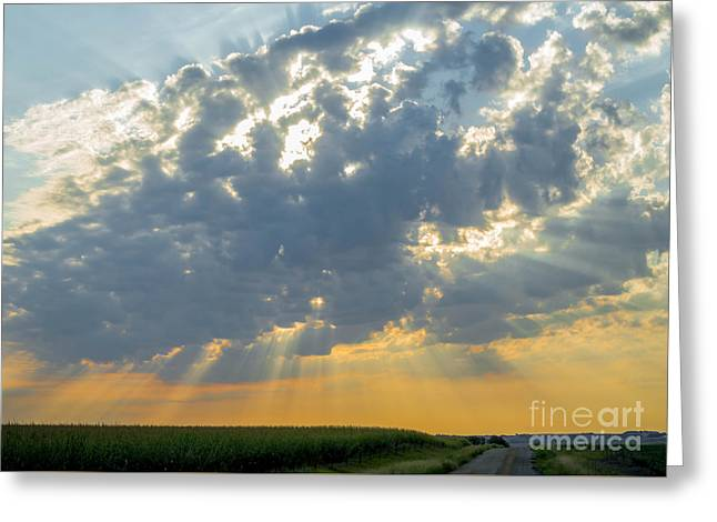 Usa Photographs Greeting Cards - Behind the Cloud Greeting Card by Lisa Phillips
