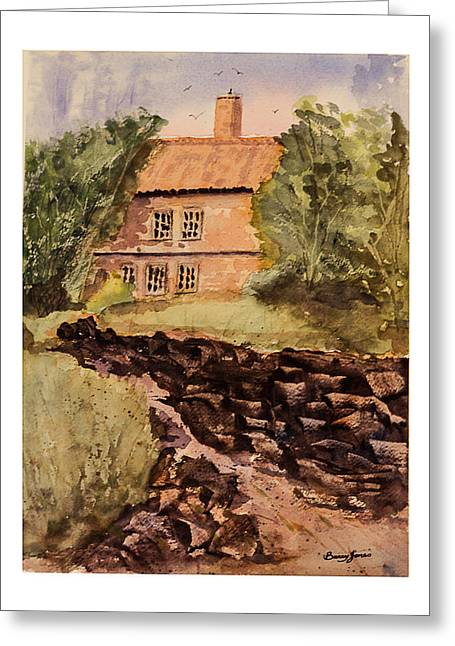 Behind The House Greeting Card by Barry Jones
