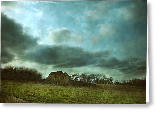 Moody Dusk Framed Prints Greeting Cards - Behind the Mirror - Back at Home Greeting Card by Rose Saint Leger