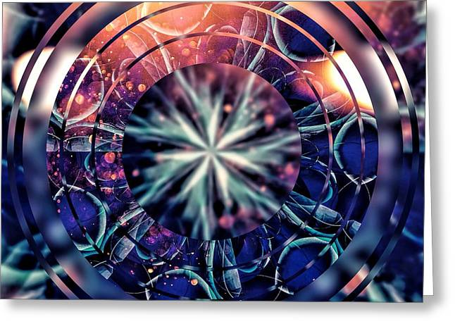 Purple Abstract Greeting Cards - Behind the Photographers Eye Greeting Card by Susan Maxwell Schmidt