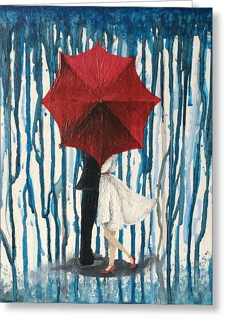Wife Greeting Cards - Behind the Umbrella Greeting Card by Haylee Reece