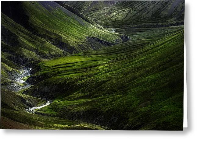 Iceland Greeting Cards - Behind The Wallpaper Greeting Card by Kaspars Dzenis
