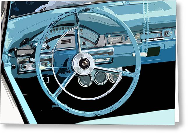 Antic Car Greeting Cards - Behind the wheel Greeting Card by David Lee Thompson