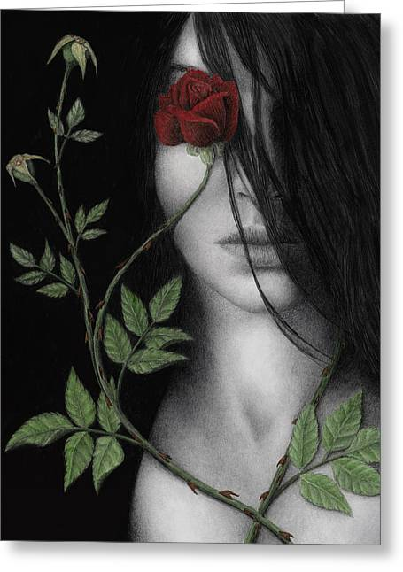 Thorns Greeting Cards - Behind What Beholds the Eye Greeting Card by Pat Erickson