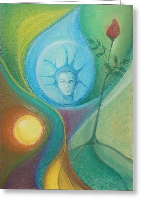 Drop Pastels Greeting Cards - Behold for I am Life Greeting Card by Saskia Symens
